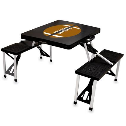Picnic Table SPORT- Black w/Football