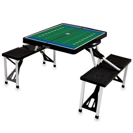 Picnic Table SPORT- Black w/Football Field