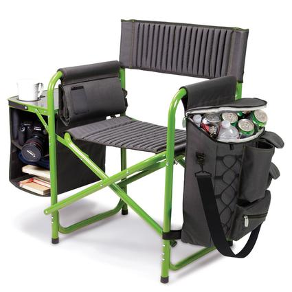 Fusion Chair- Dark Gray with Lime