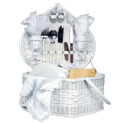 Wedding Heart Picnic Basket