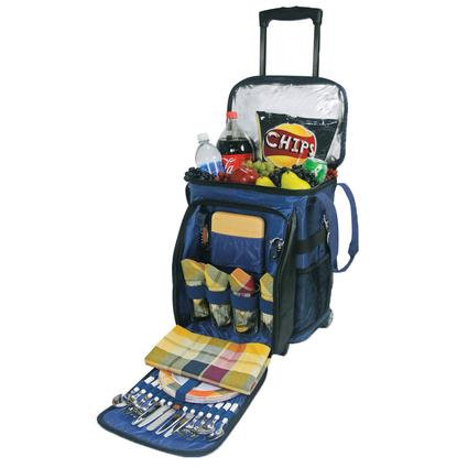 Avalanche Picnic Basket- Navy w/Plaid
