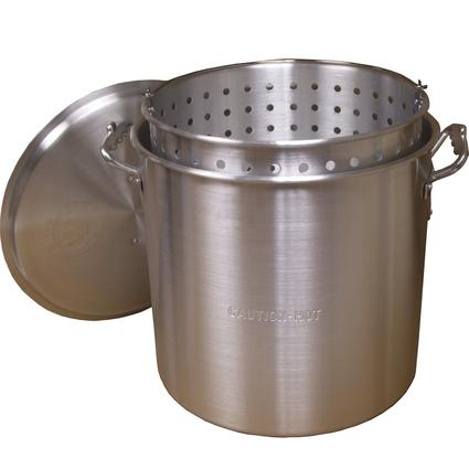 60 Quart Aluminum Pot w/ Lid and Basket