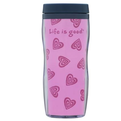 Acrylic Heart Travel Mug