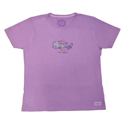 Life is good Airstream/Lemonade, Soft Purple - X Large