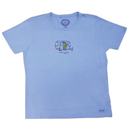Life is good Airstream T-shirt, Sky Blue - Large