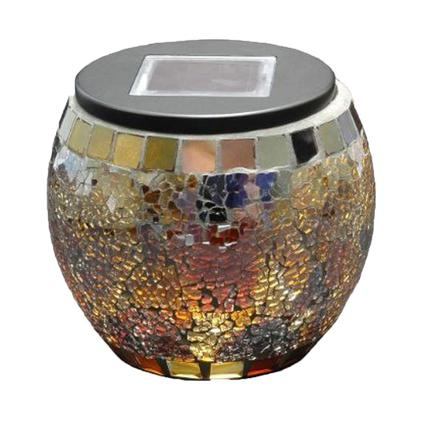 Solar Mosaic Globe Jar - Brown