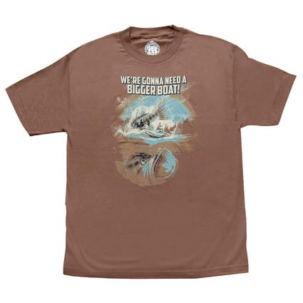 Need a Bigger Boat T-shirt - Brown, Large