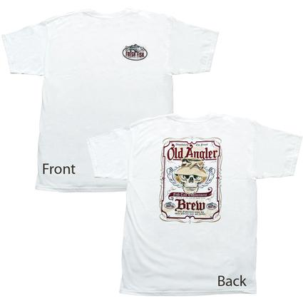 Old Angler T-shirt - White, Large