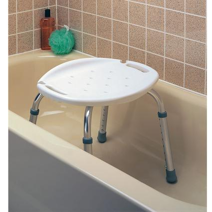 Adjustable Bath and Shower Seat without Back