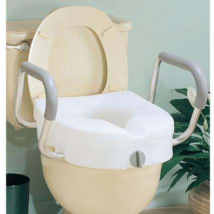 EZ Lock Raised Toilet Seat with Arms
