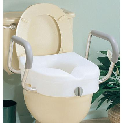 EZ Lock Toilet Seat with Arms