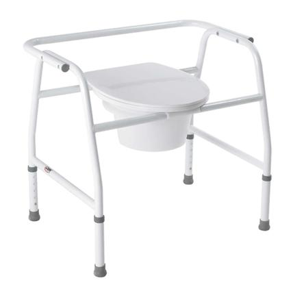 Extra Wide Bedside Steel Commode