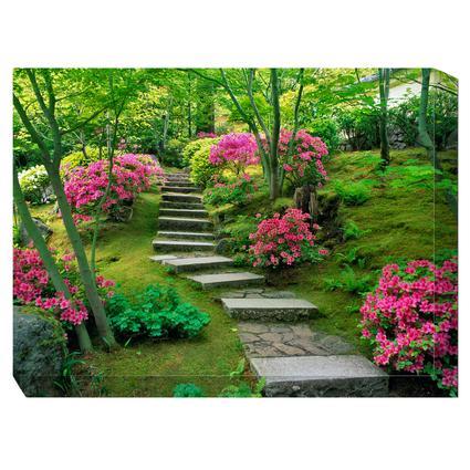 Art - Azaleas Blooming