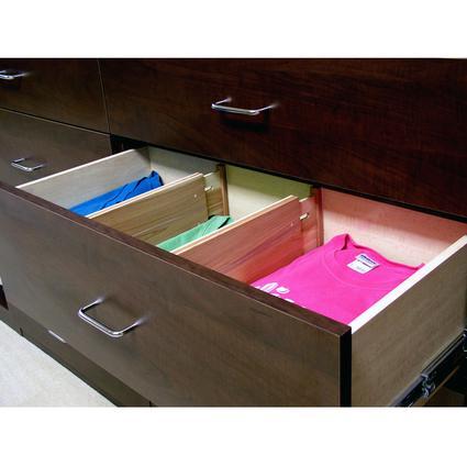 Cedar Custom Closet Expandable Dresser Dividers - Set of 4