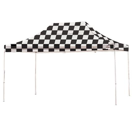 10X15 Pro Series Straight Leg Canopy - Checkered Flag