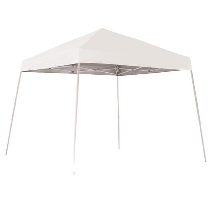 10X10 Sports Series Slant Leg Canopy - White