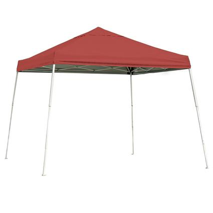12X12 Sports Series Slant Leg Canopy - Red