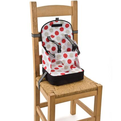 Booster Seat - Red Polka Dots