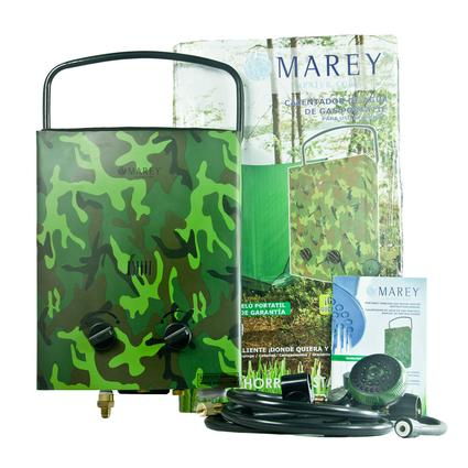 Marey Portable LP Tankless Water Heater - Camo
