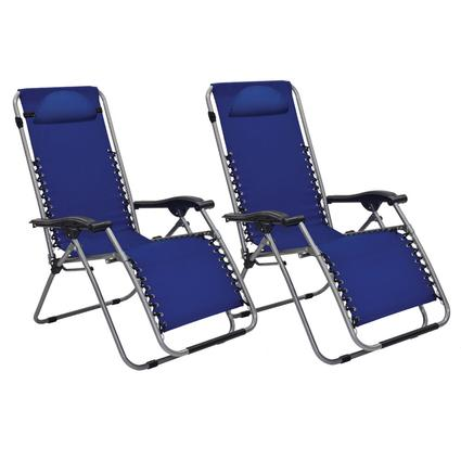 Victory Blue Recliner Set