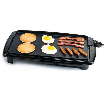 Elite Gourmet Non-Stick Electric Griddle with Grease Tray