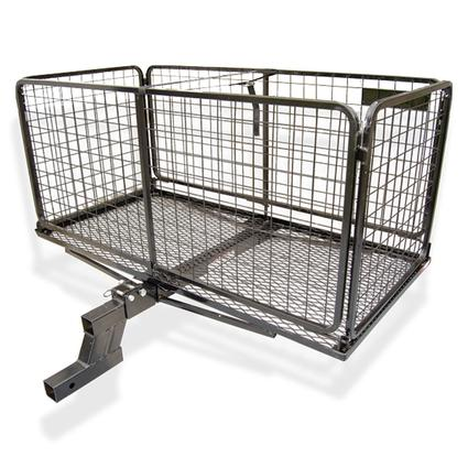 Cargo Carrier Basket with 3 inch Raised Folding Shank