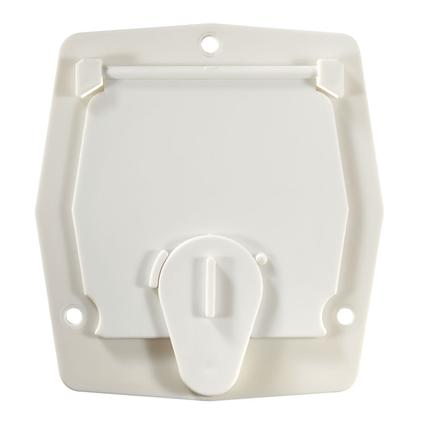 Basic Cable Hatch, Flat Sided, Polar White