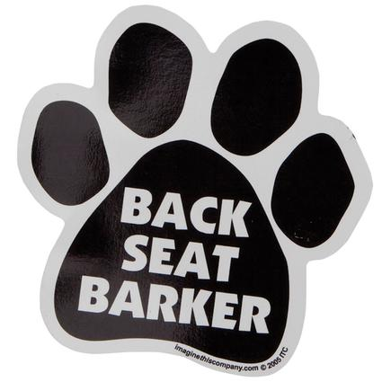 Pet Magnet - Back Seat Barker Paw-Shaped