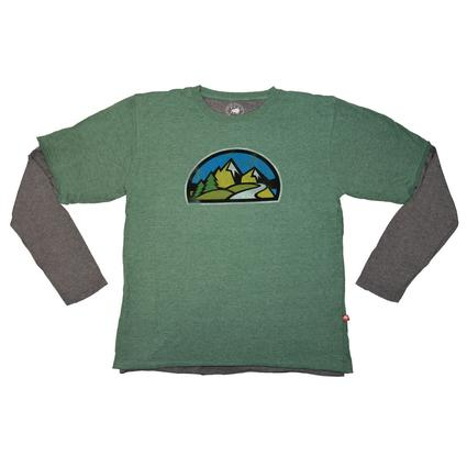 2-for-1 Tee, Green - Large