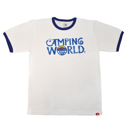 Camping World Ringer Tee, Royal Blue - Small