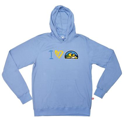 Ladies Hoodie, Light Blue - Small