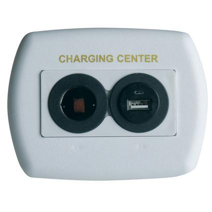 USB 12 Volt Plastic Charger - White