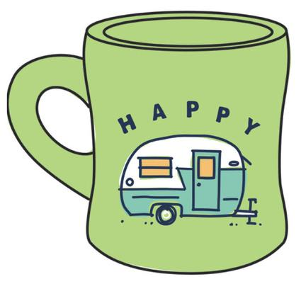 Happy Camper Diner Mug