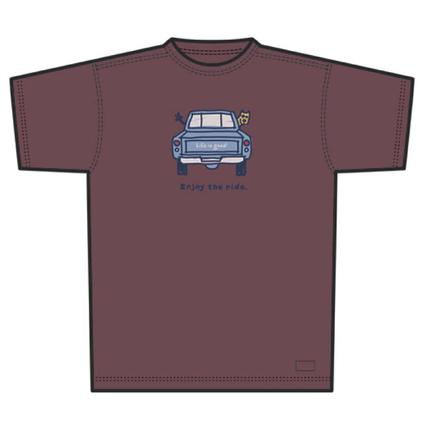 Enjoy The Ride Pickup Truck Men's T-Shirt - Large