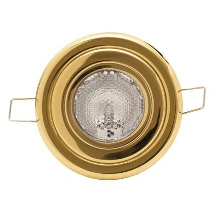 Decor Premium Flush Mount Overhead Halogen Light - Brass Finish