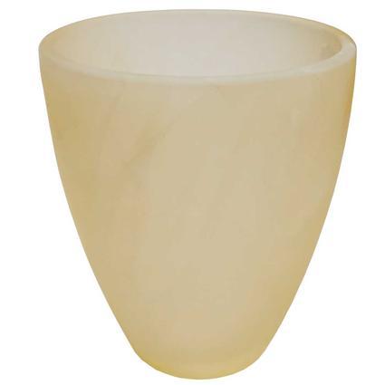 Tumbler Style Blown Glass Globe - Bisque Alabaster