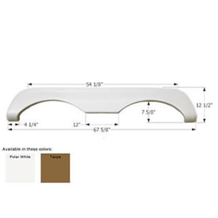 Mckenzie Tandem Fender Skirt FS769 - Polar White