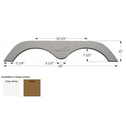 R-Vision Tandem Fender Skirt FS775 - Taupe