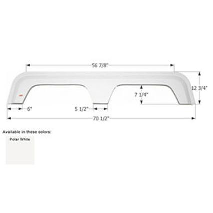 Coachmen Tandem Fender Skirt FS783 - Polar White