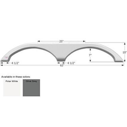Fleetwood Tandem Fender Skirt FS1815 - Olive Grey