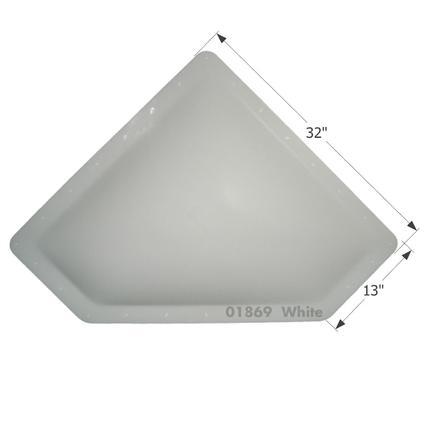 RV Skylight - NSL2810W - White
