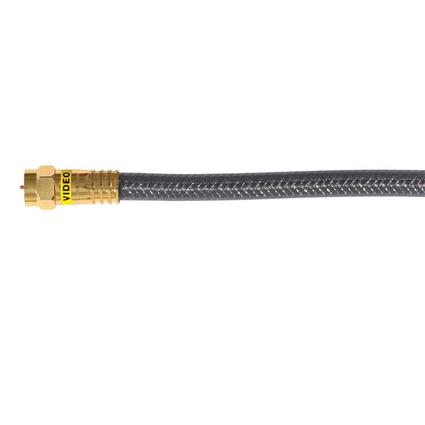 RG6 Digital Quadshield Coax Cable - 6'
