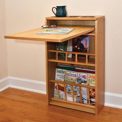 Oak-Finish Wall Table