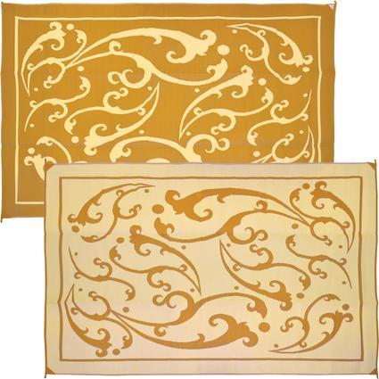 Reversible 9' x 12' Vine Patio Mat - Gold