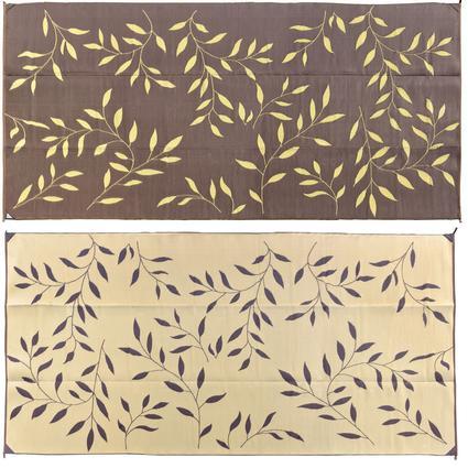Leaf 8' x 16' Reversible Patio Mats - Brown
