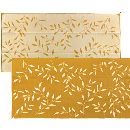 Leaf 8' x 16' Reversible Patio Mats - Gold