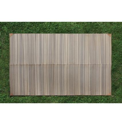 Brown Stripe Patio Mat - 6 x 9