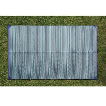Blue Stripe Patio Mat, 9' x 12'