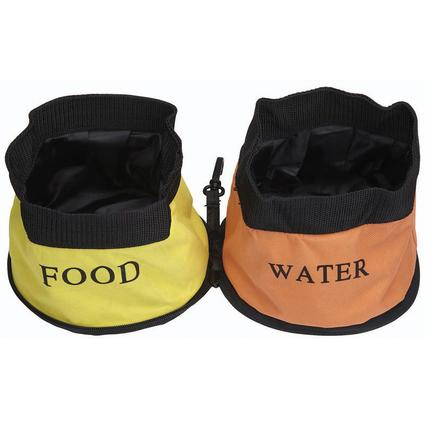 Double Collapsible Travel Pet Bowl