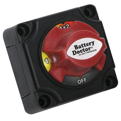 Dual Battery Disconnect Switch for up to 2 batteries